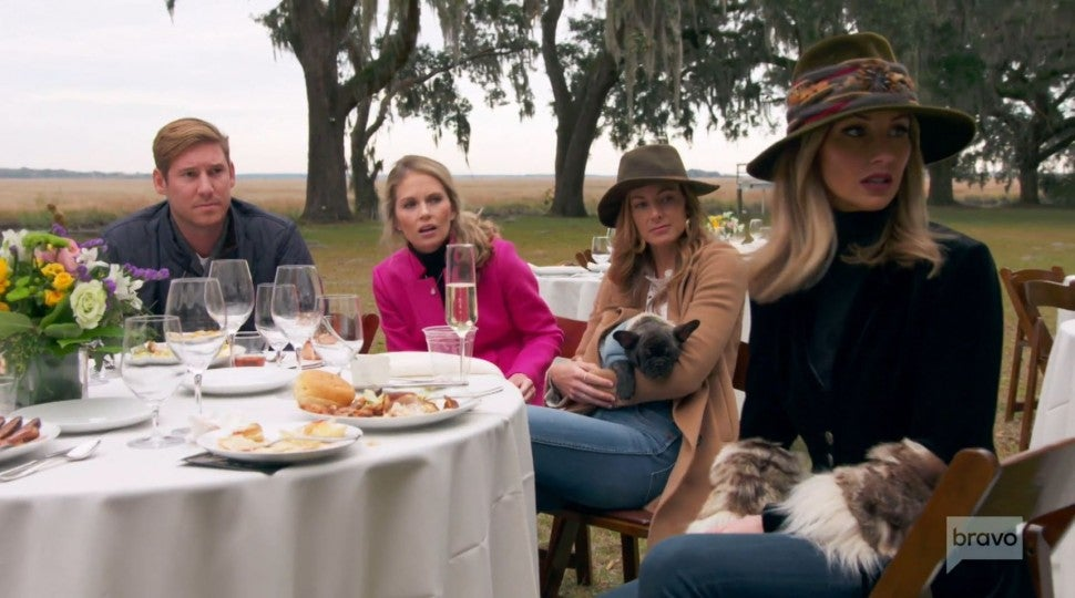 Ashley Jacobs and the cast of Bravo's 'Southern Charm.'