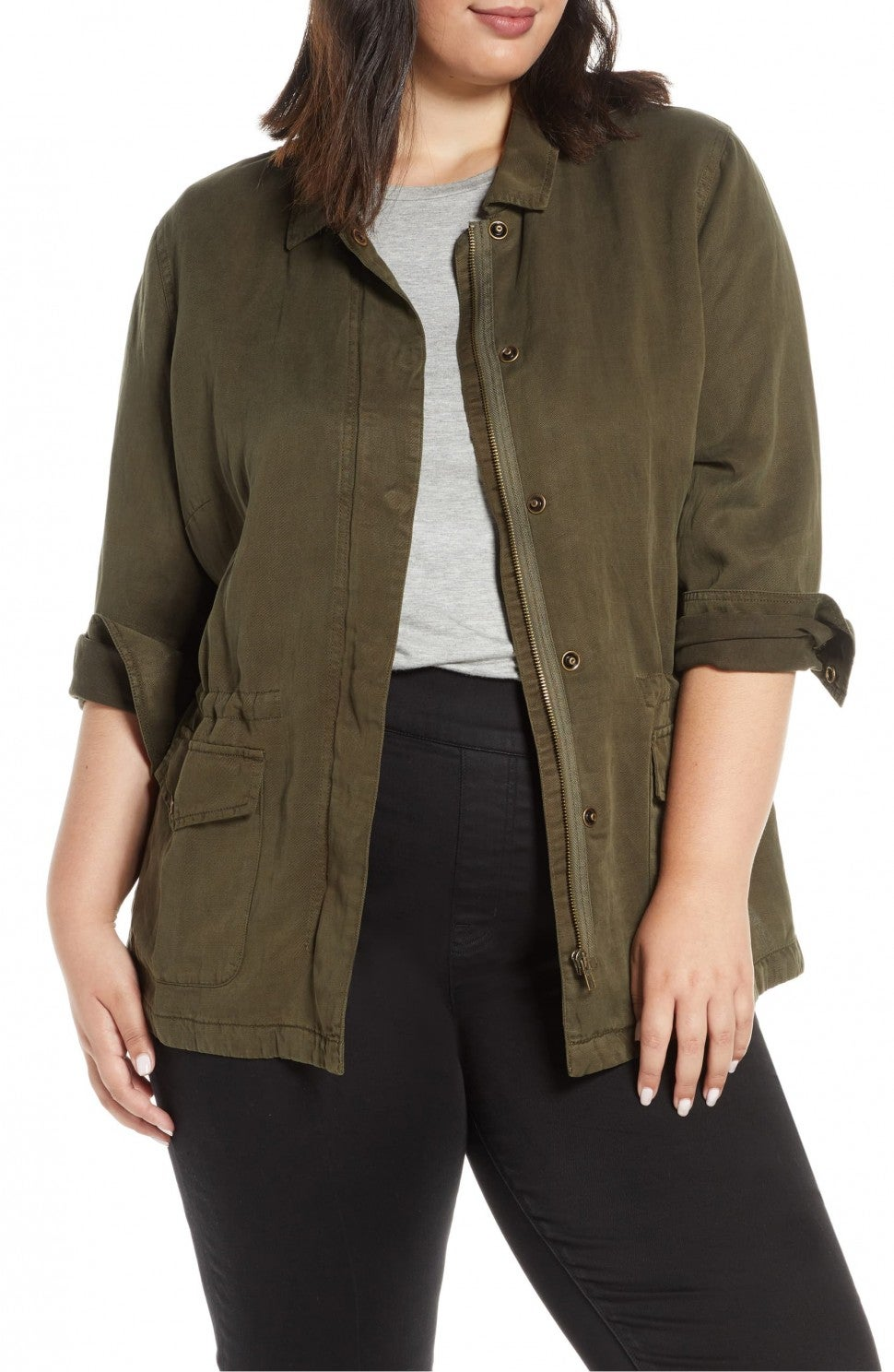 Sanctuary Plus Size Rowen Military Jacket