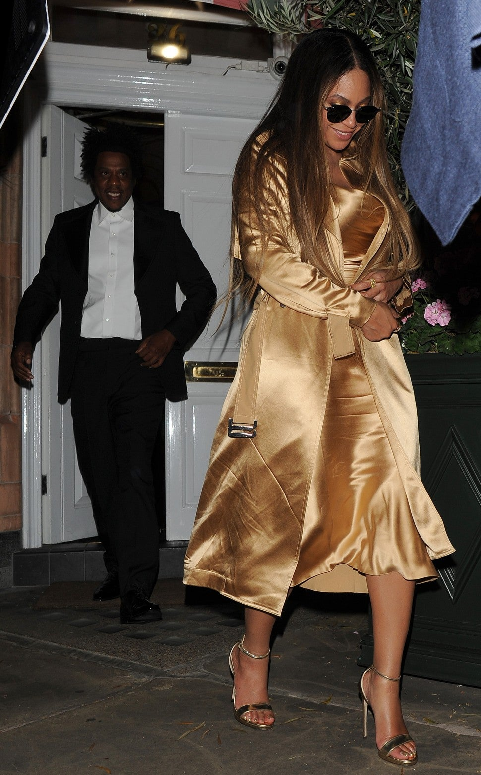 Beyonce Steps Out In All Gold Outfit For Lion King After