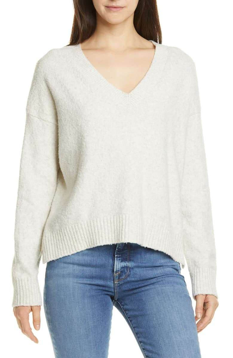 Vince textured v-neck sweater