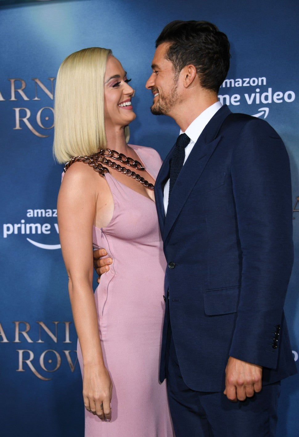 katy perry and orlando bloom at carnival row premiere