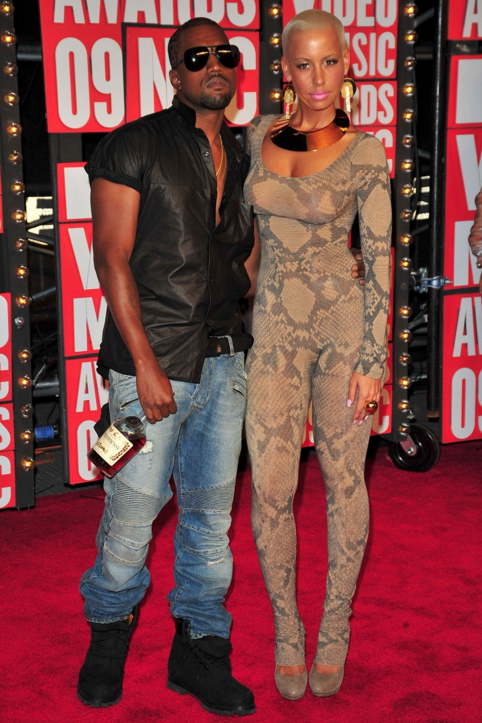 Kanye West and Amber Rose attend 2009 MTV Video Music Awards