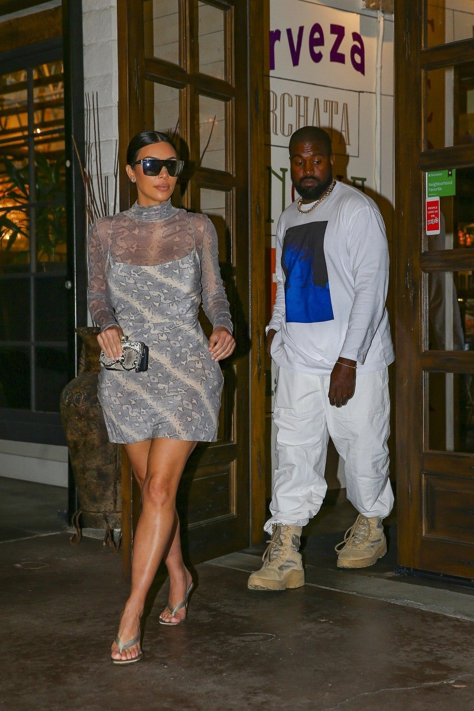 kimye get mexican food on date night