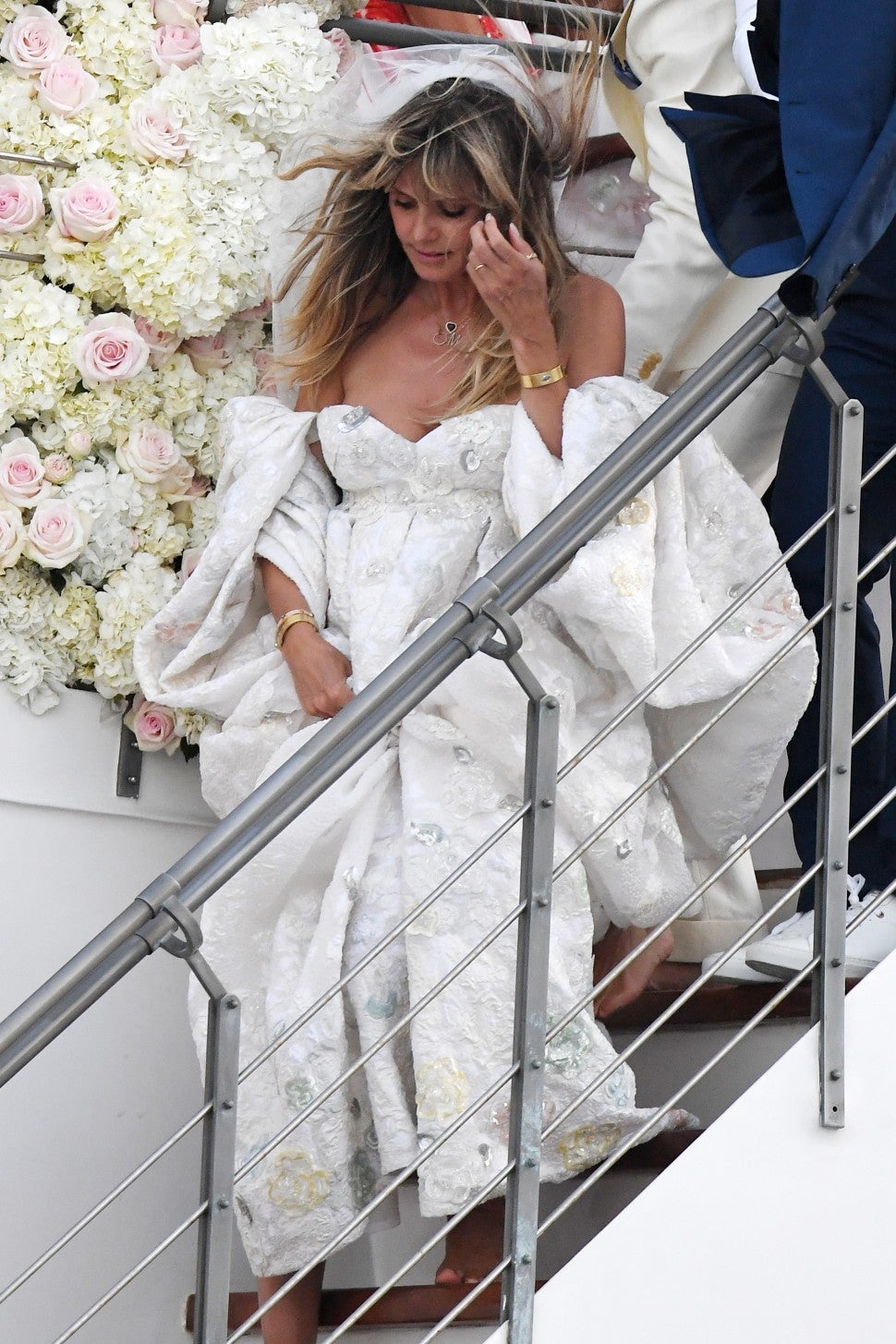 Heidi Klum Glows In Billowing Gown For Her And Tom Kaulitz S Italian Wedding Entertainment Tonight