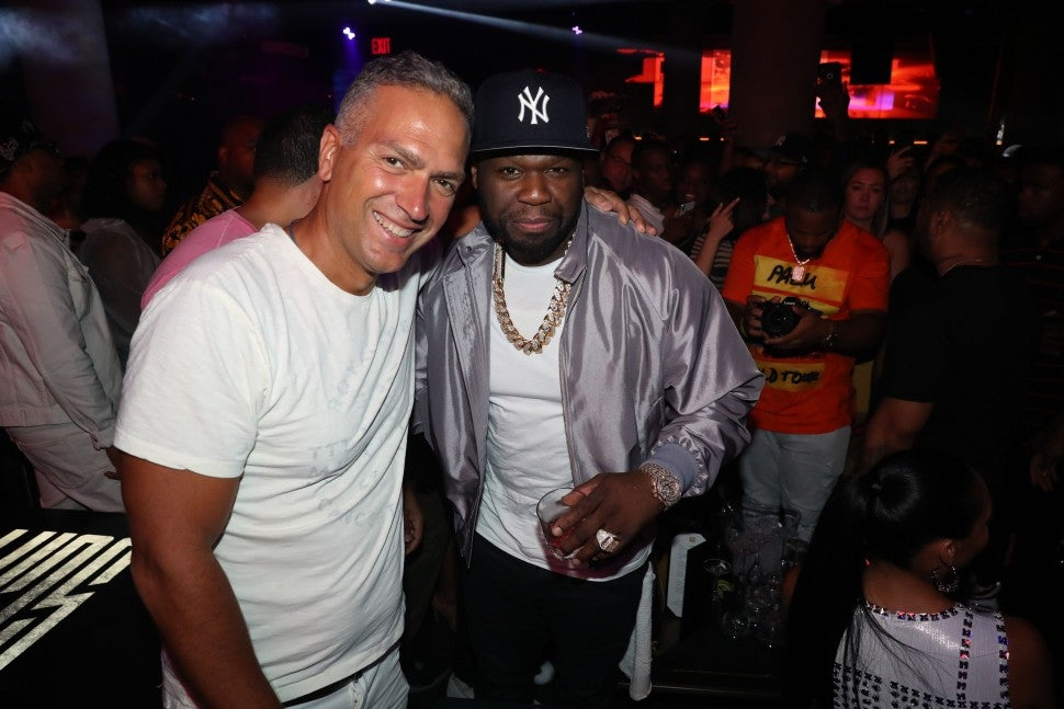 50 cent with champagne