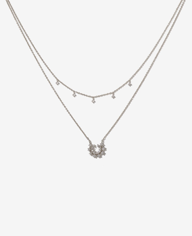 Adornmonde Jude Silver Necklace Set