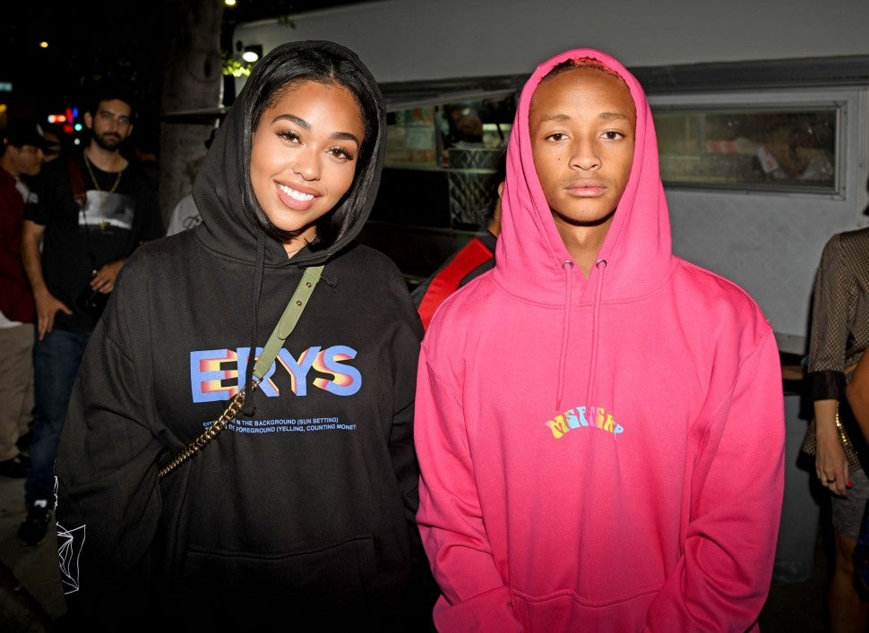 Jordyn Woods and Jaden Smith