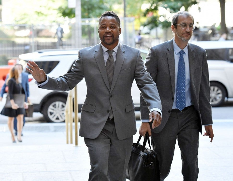 Cuba Gooding Jr. arriving to court in NYC