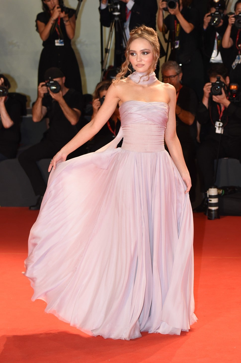 Lily-Rose Depp at The King screening at Venice Film Festival