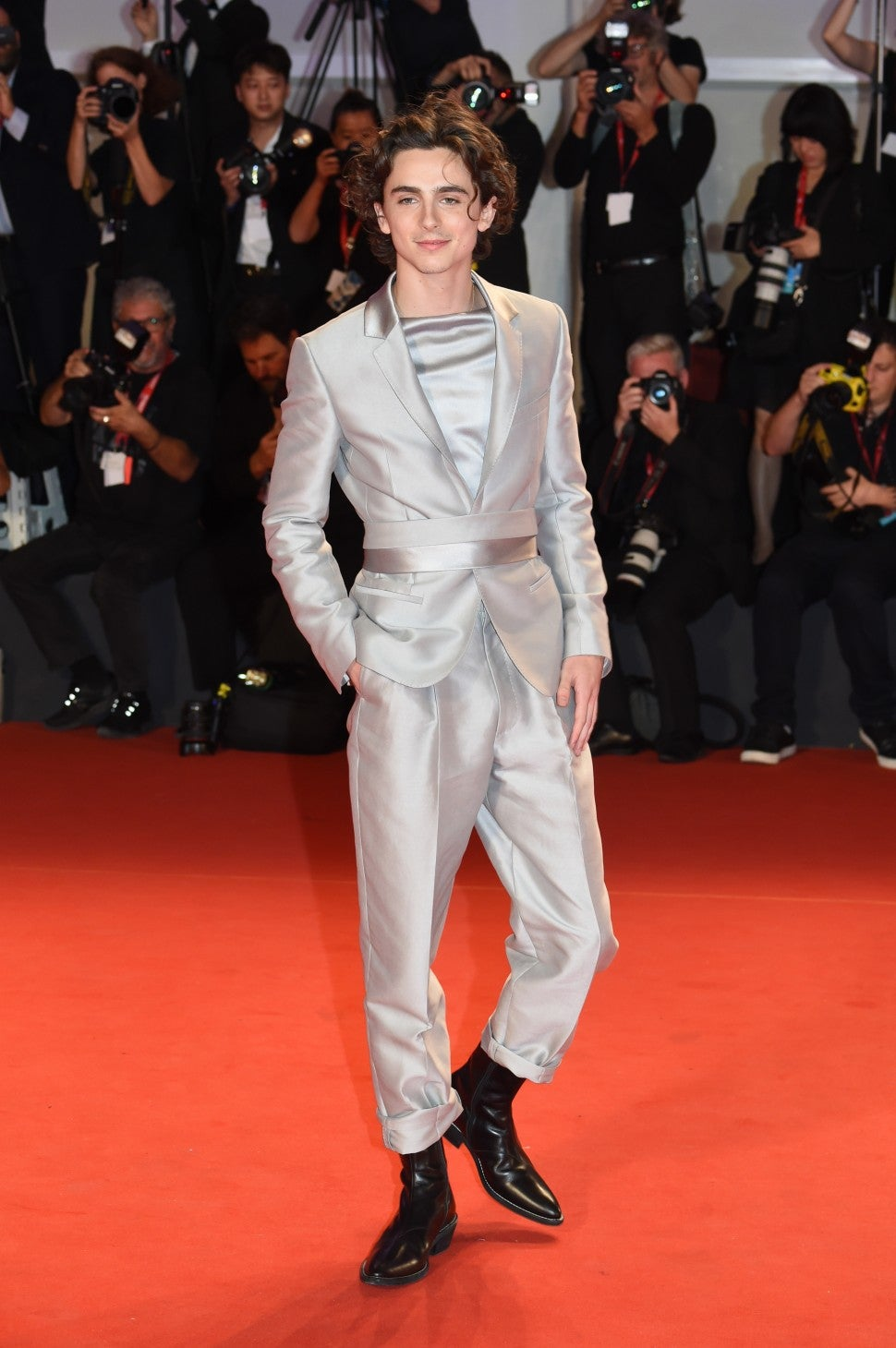 Timothee Chalamet at Venice Film Festival 2019 The King screening