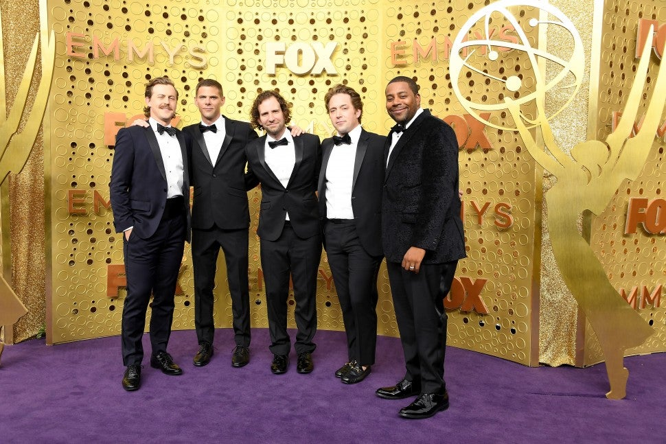 Alex Moffat, Mikey Day, Kyle Mooney, Beck Bennett and Kenan Thompson attends the 71st Emmy Awards at Microsoft Theater on September 22, 2019 in Los Angeles, California.