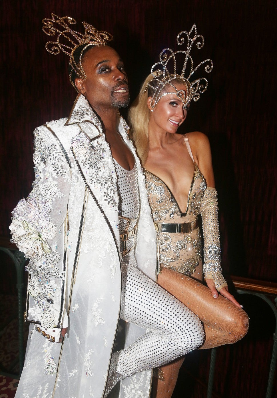 Paris Hilton and Billy Porter