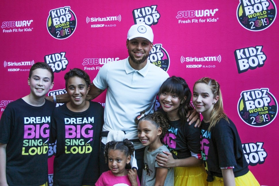 steph curry at kidz bop