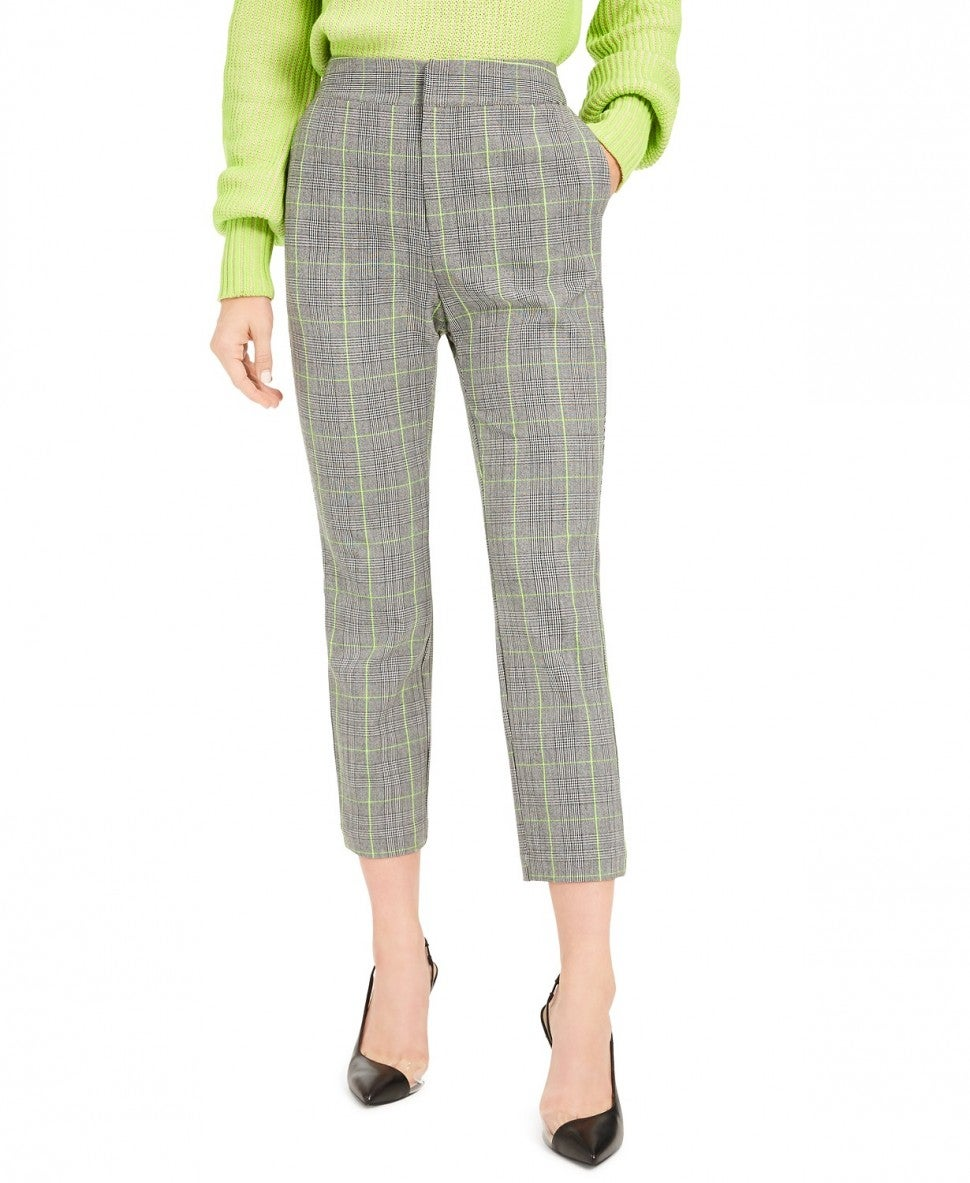 Becca Tilley x Bar III Plaid Tapered Pants