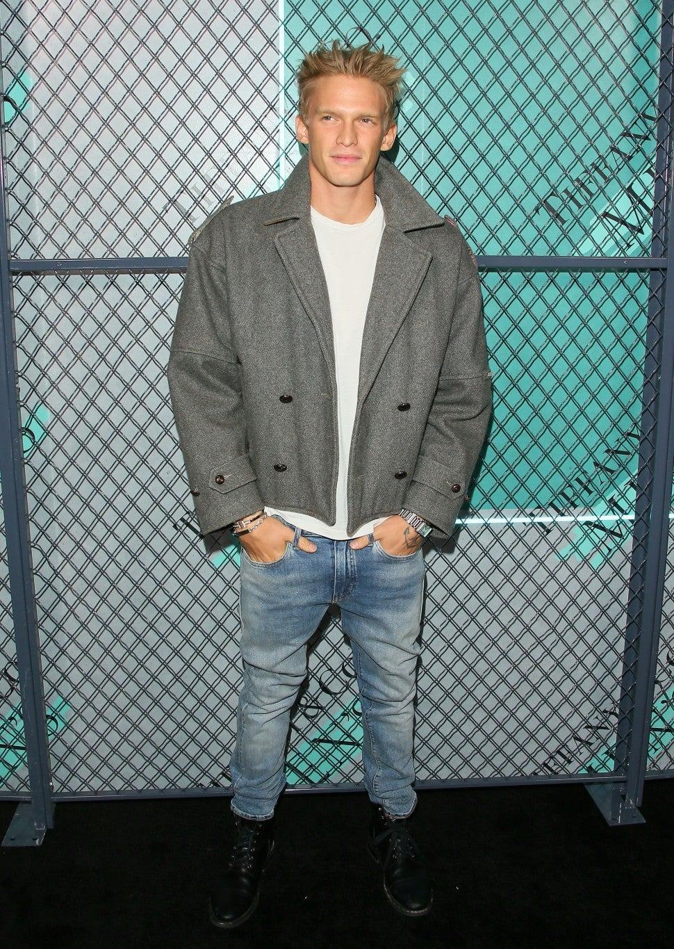cody simpson at tiffany event on oct 11