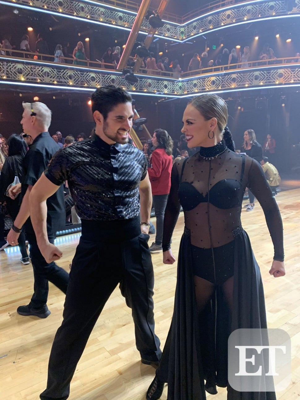 Hannah Brown and Alan Bersten
