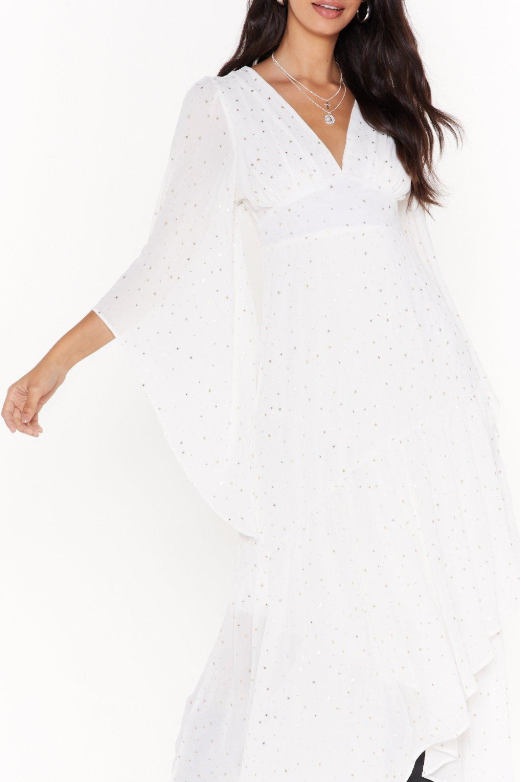Nasty Gal Too Star Gone Cape Maxi Dress