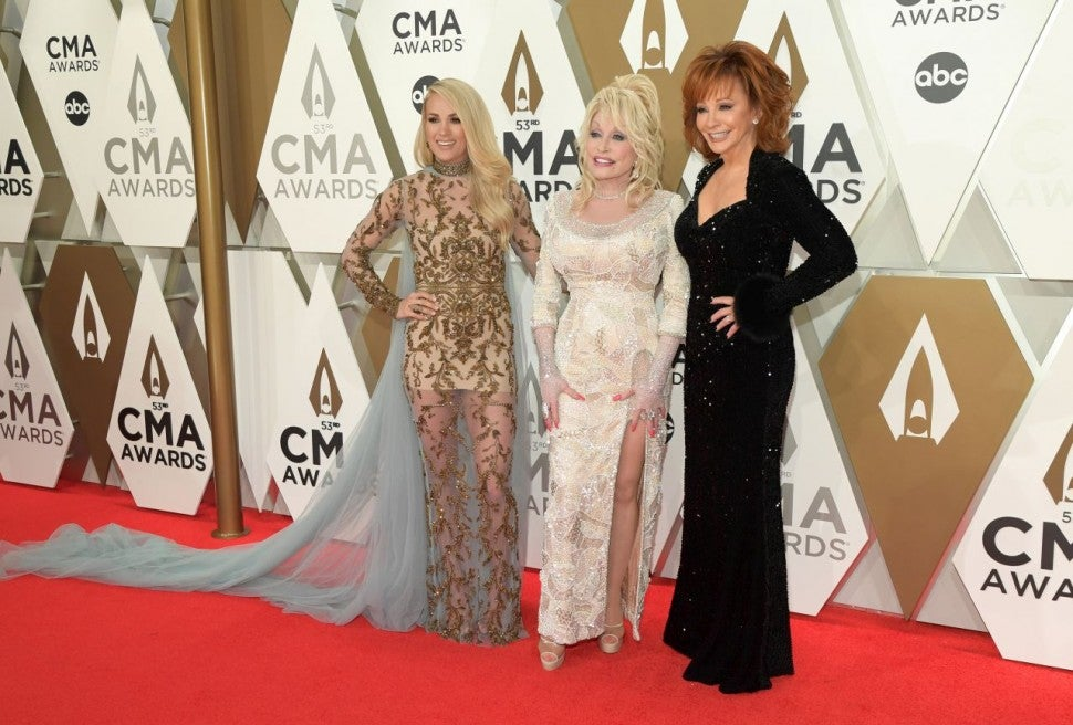 Carrie Underwood, Dolly Parton and Reba McEntire