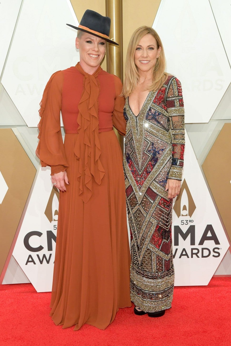 Pink and Cheryl Crow at CMA