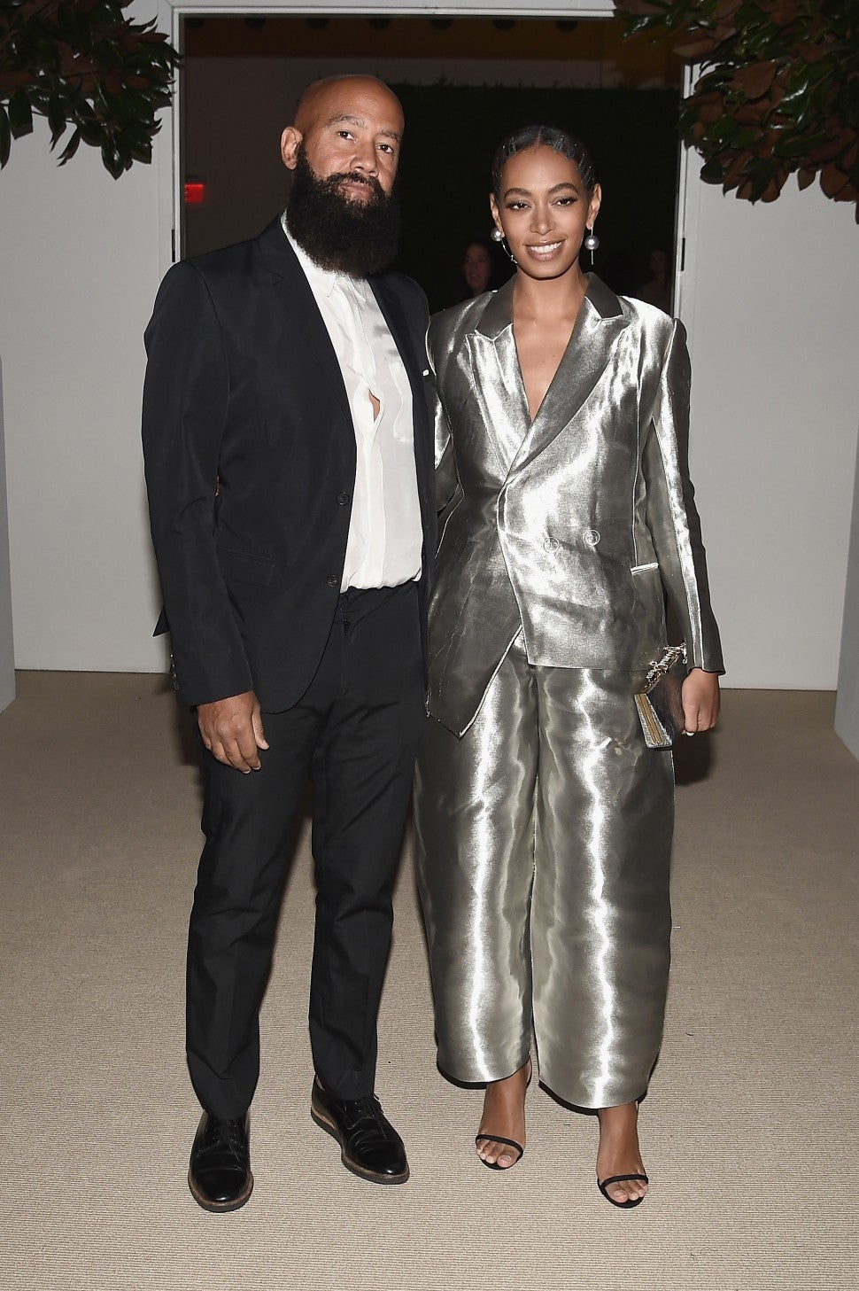 Alan Ferguson and Solange Knowles attend 13th Annual CFDA/Vogue Fashion Fund Awards at Spring Studios on November 7, 2016 in New York City.
