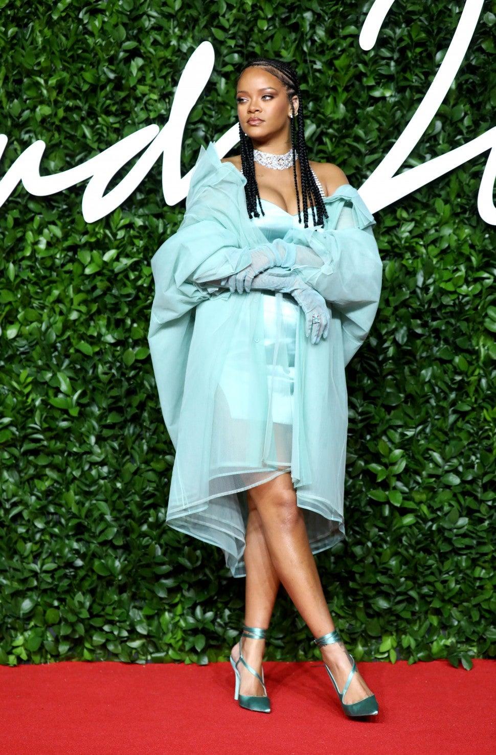 Rihanna at the 2019 British Fashion Awards
