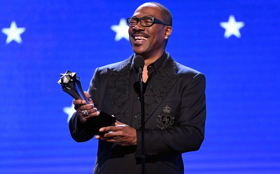 Eddie Murphy at the 2020 Critics' Choice Awards