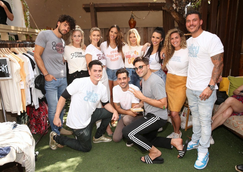 The new and original cast of 'Vanderpump Rules' collide at an event for Kristen Doute's line of T-shirts.