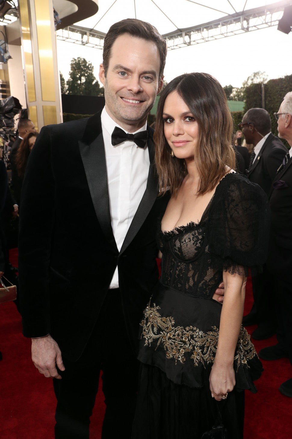Bill Hader and Rachel Bilson 2020 golden globes