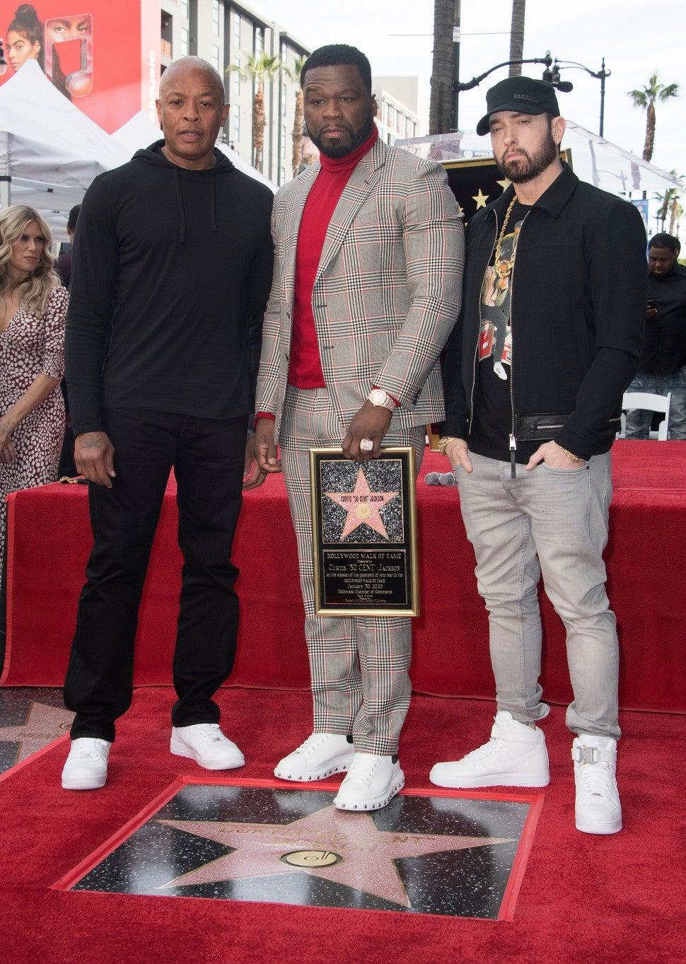 Dr Dre Eminem 50 Cent Walk of Fame