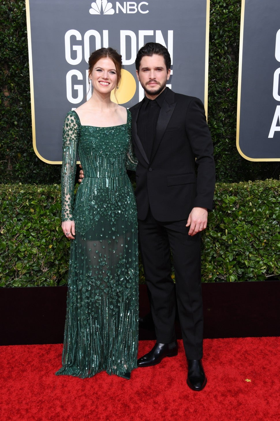 Rose Leslie and Kit Harington at the 2020 Golden Globes