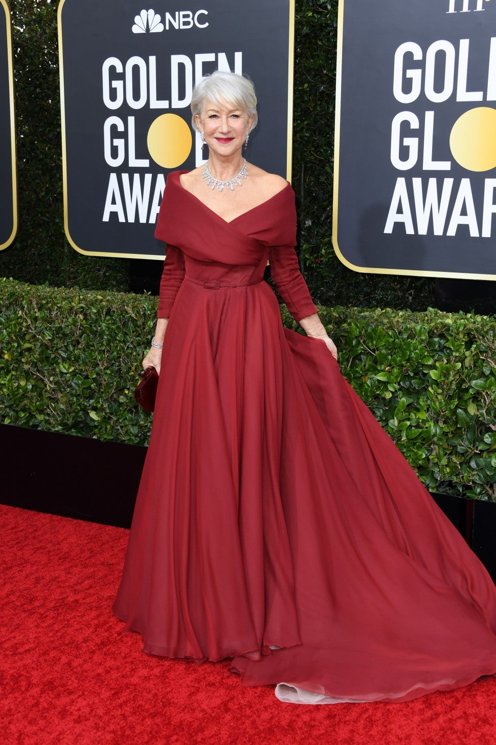 Helen Mirren at 2020 Golden Globes