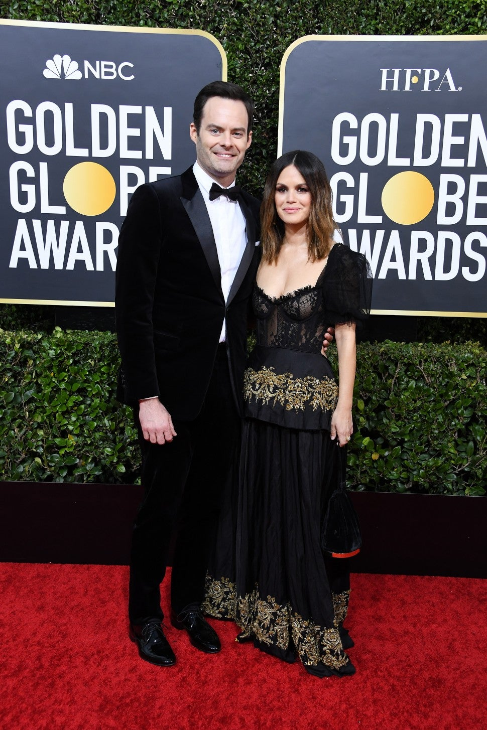 Bill Hader and Rachel Bilson at 2020 golden globes