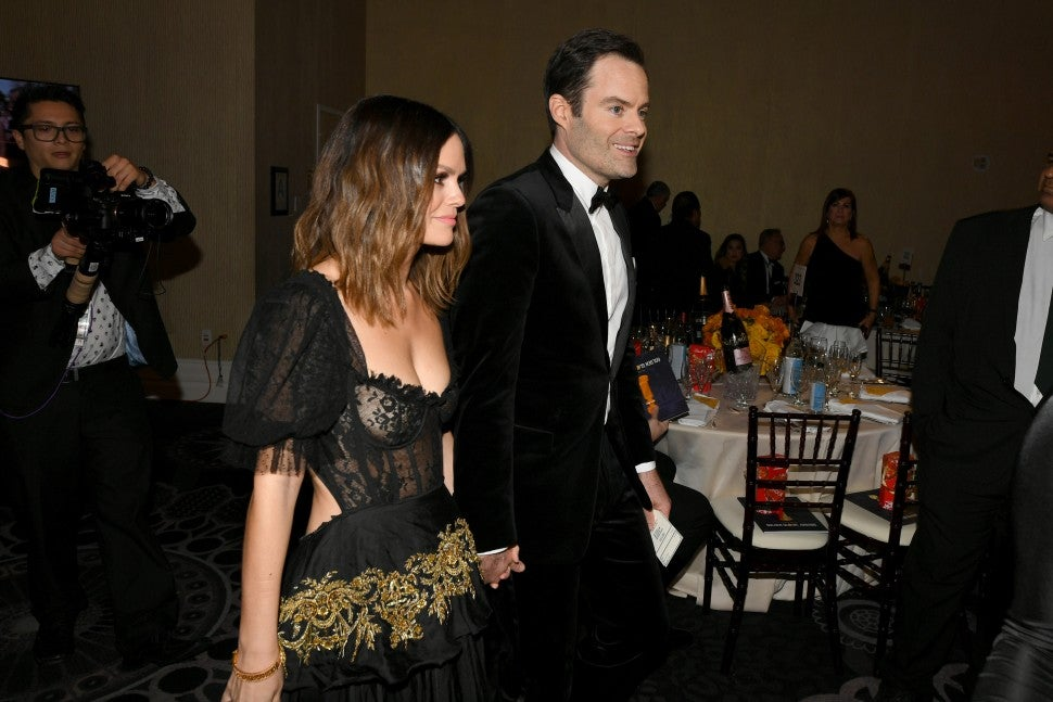 rachel bilson and bill hader 2020 golden globes