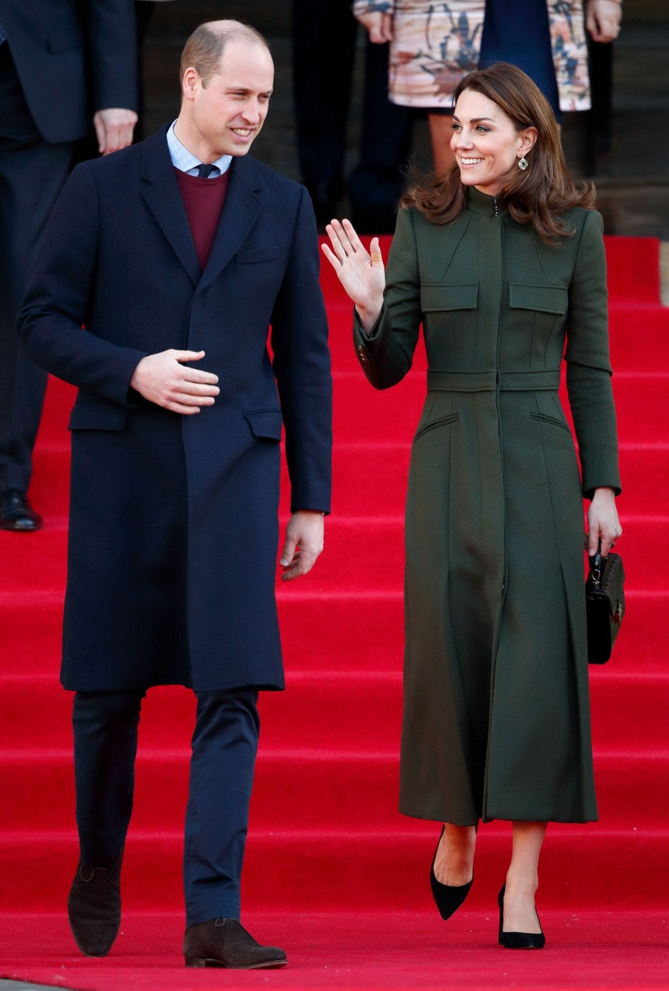 Prince William and Kate Middleton in bradford, england