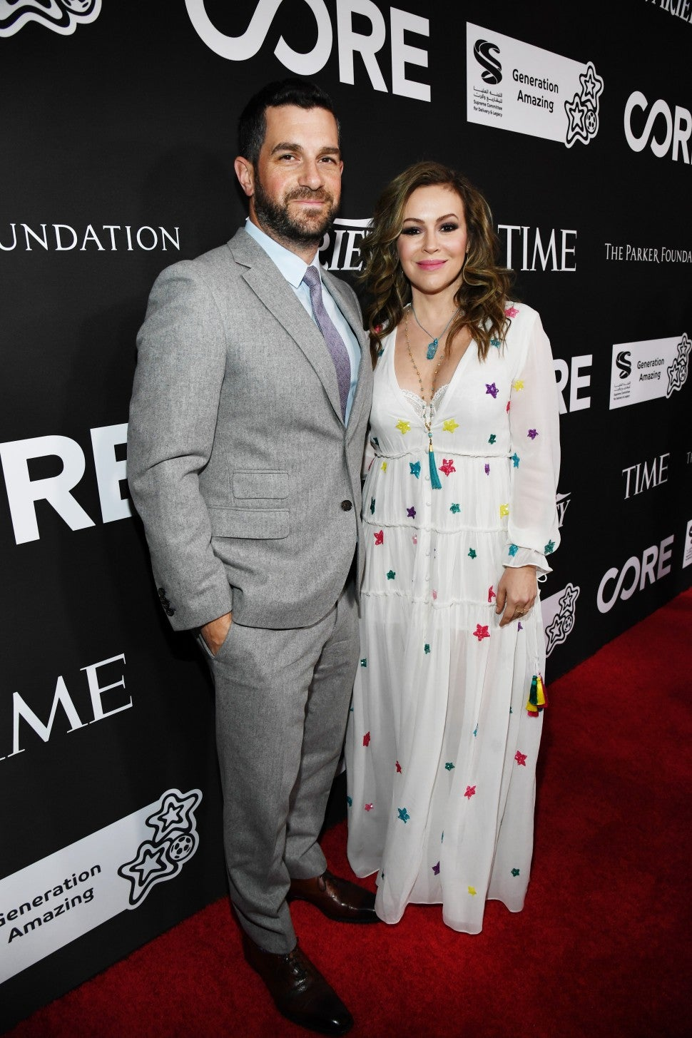 Dave Bugliari and Alyssa Milano