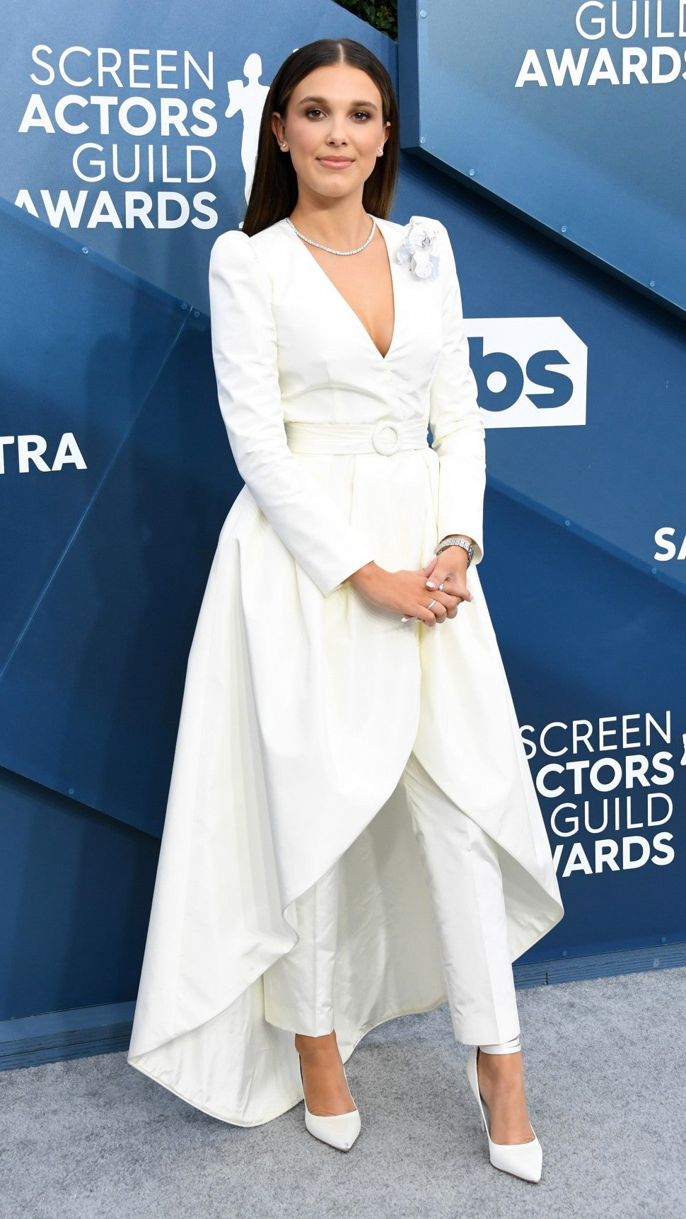 millie bobby brown at 2020 sag awards