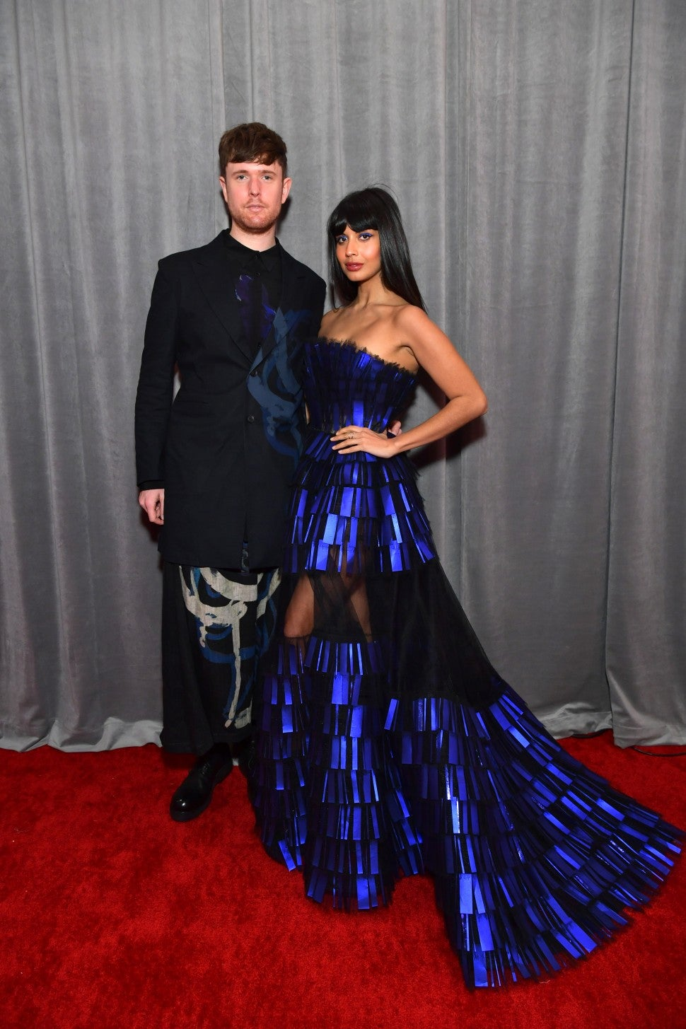 James Blake and Jameela Jamil at the 62nd Annual GRAMMY Awards