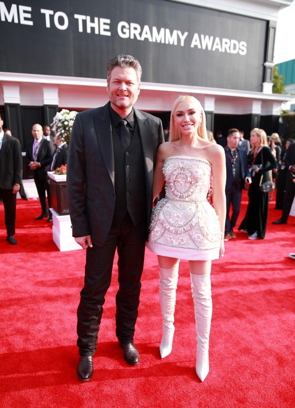 Blake Shelton And Gwen Stefani Arrive At The 2020 Grammys