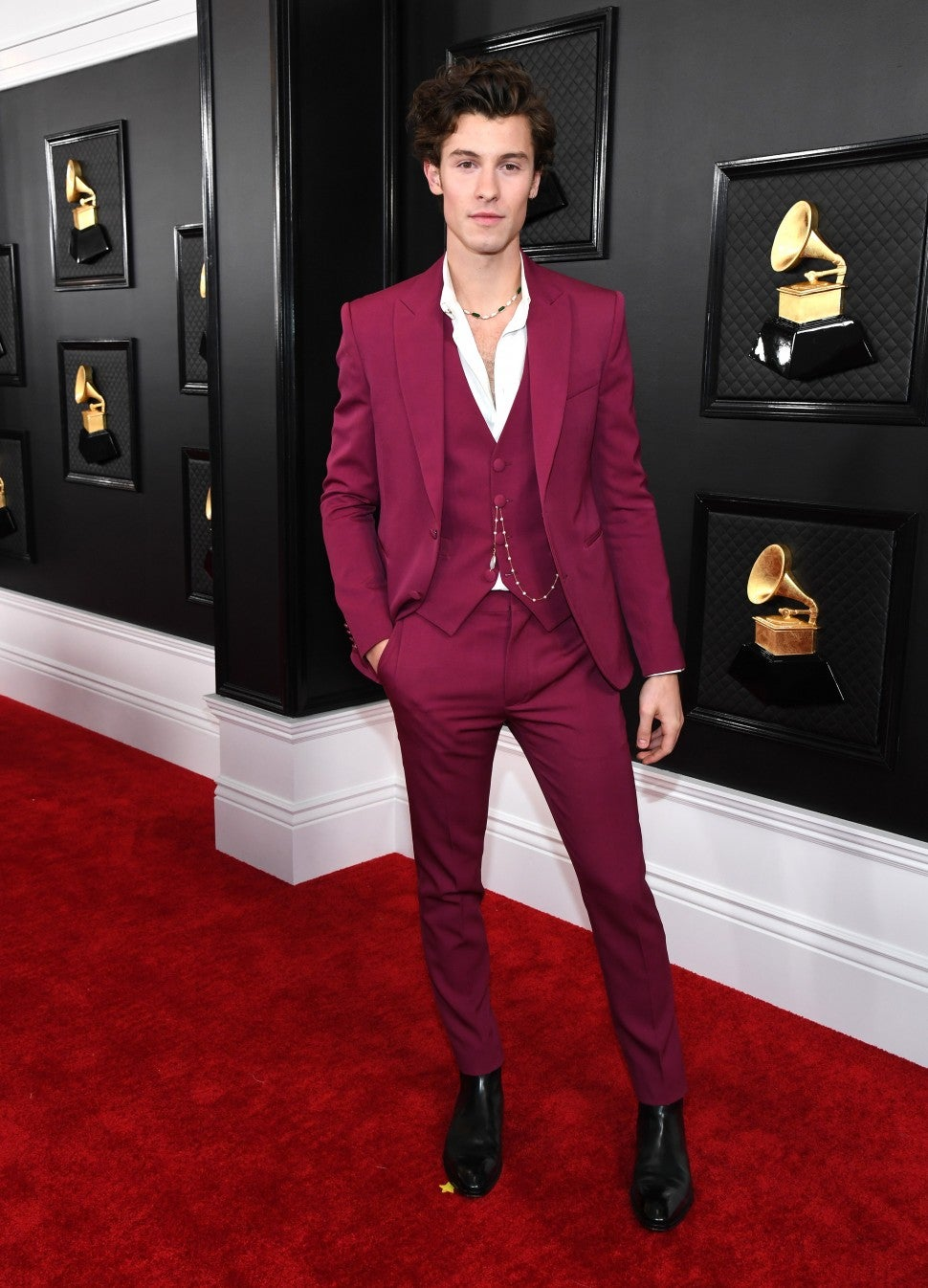 shawn mendes at 2020 grammys