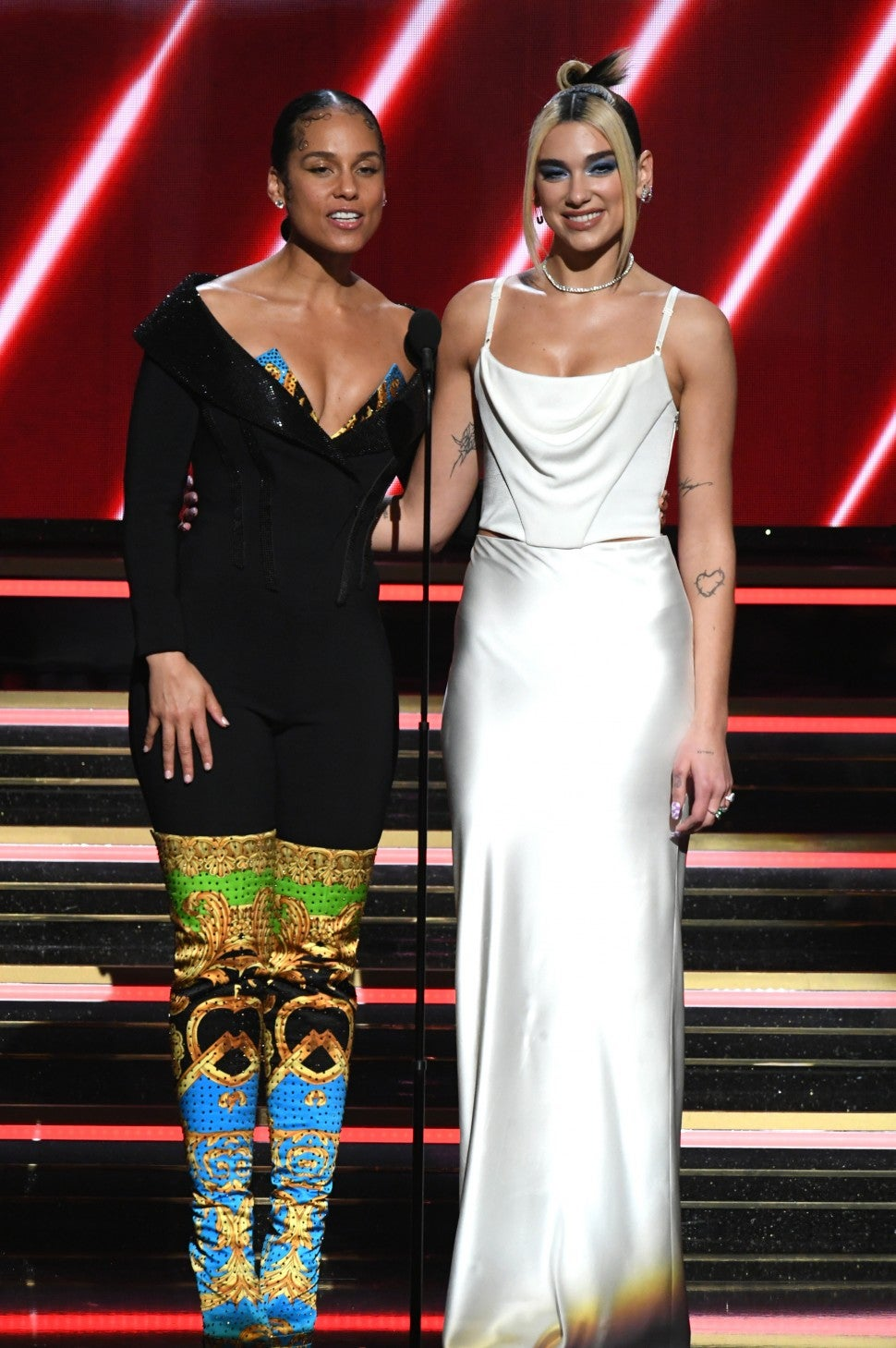 see every single outfit alicia keys wore while hosting the 2020 grammys entertainment tonight single outfit alicia keys wore