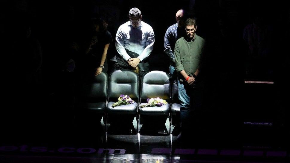 Kobe Bryant and Gigi Tribute at Nets Game
