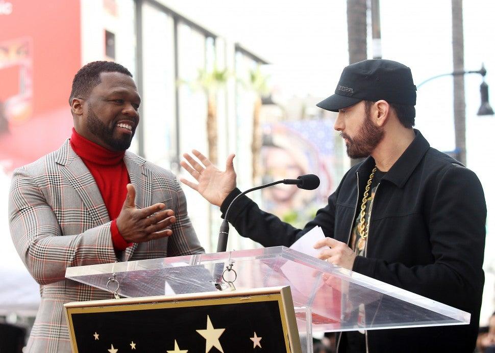 Eminem 50 Cent Walk of Fame