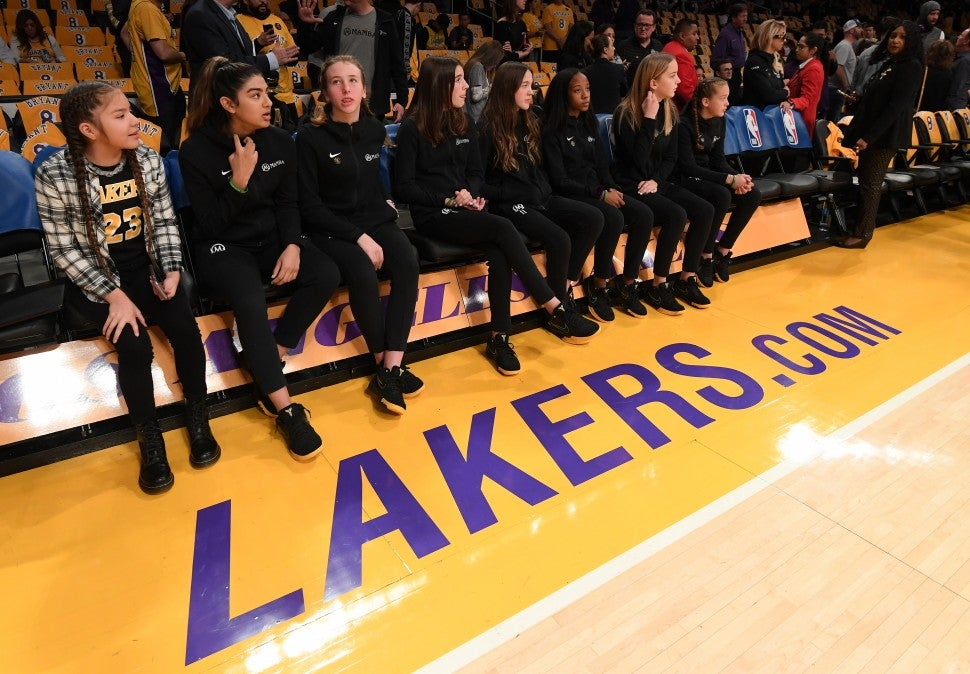 Gianna Bryants Teammates Lakers Game