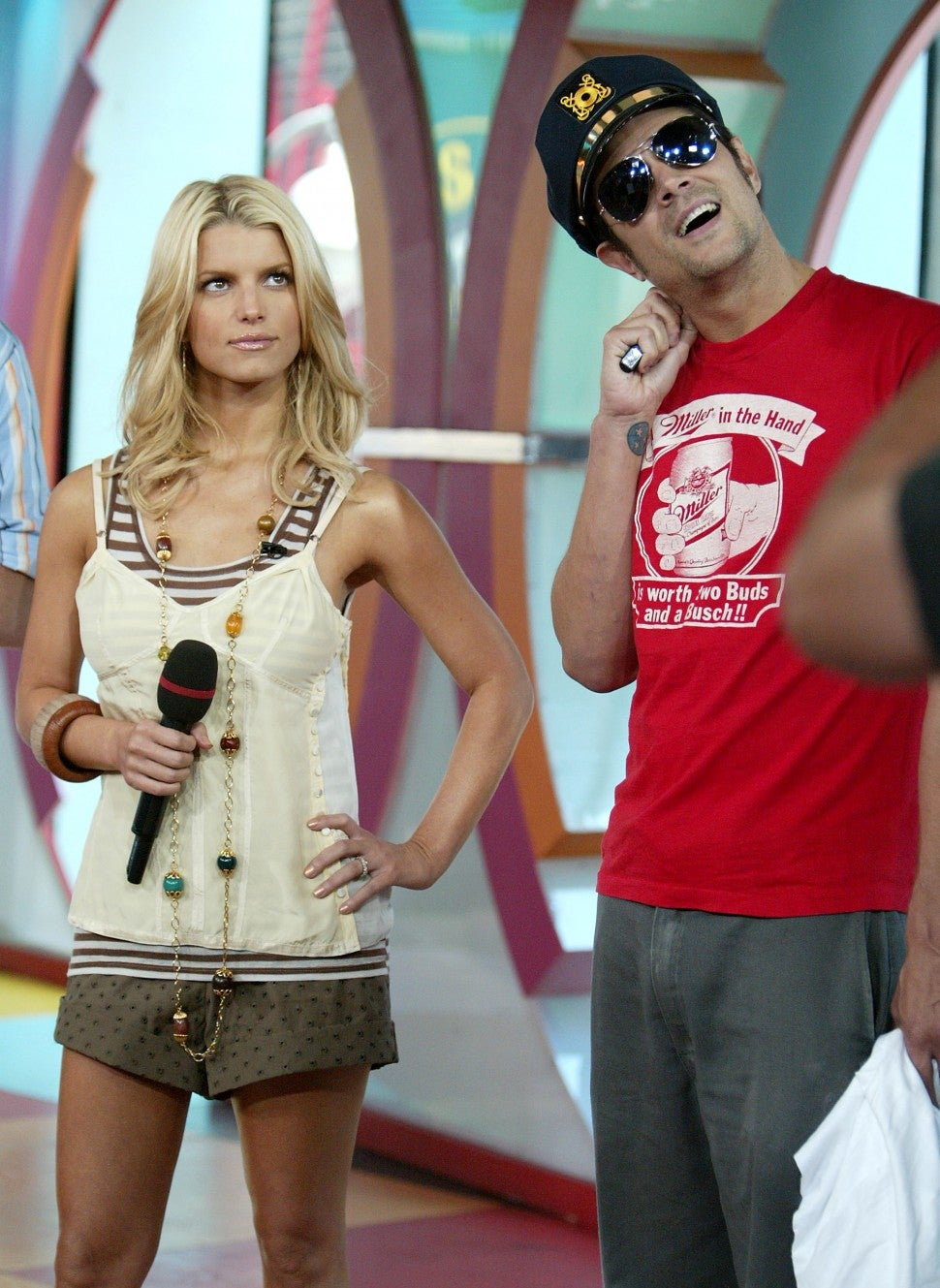 Jessica Simpson and Johnny Knoxville