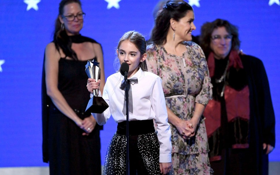 Julia Butters at the 2020 Critics' Choice Awards
