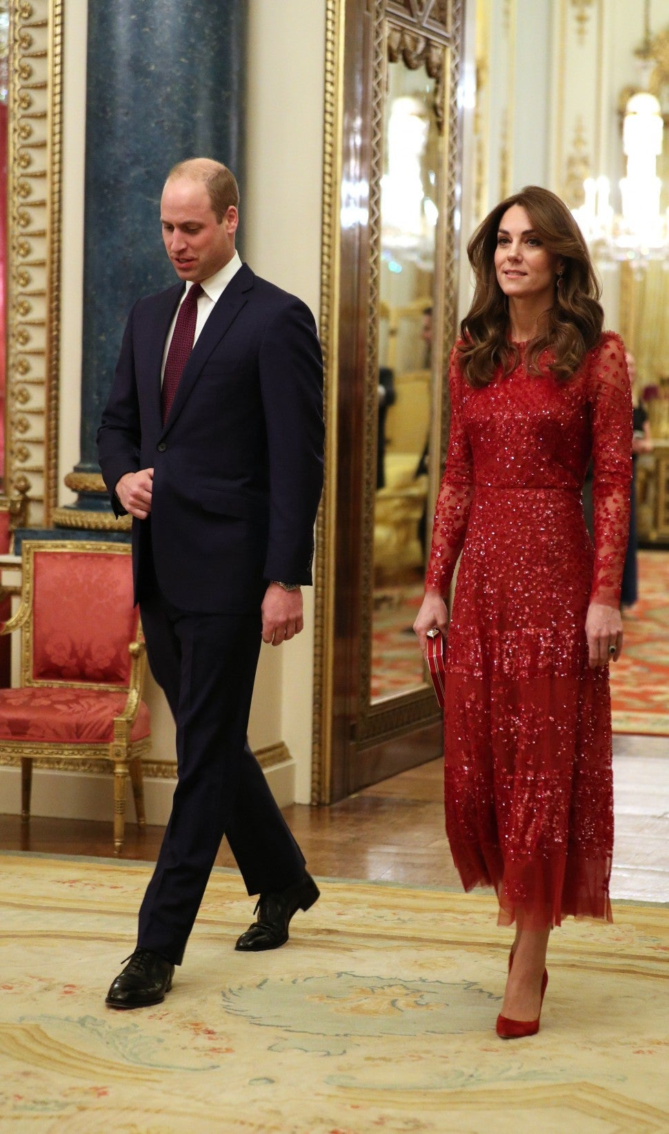 Prince William and Kate Middleton at the U.K.-Africa Summit reception.