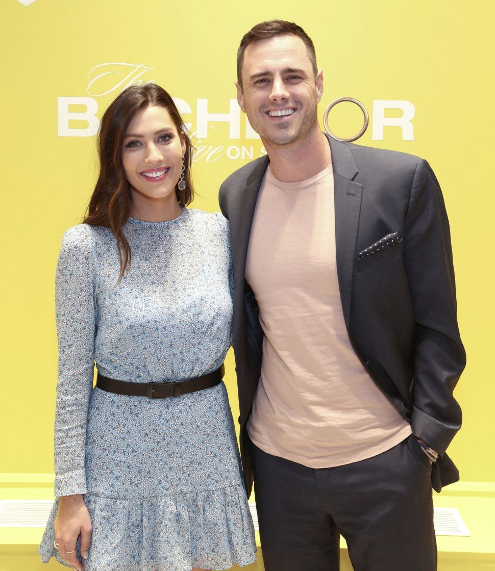 Becca Kurfin and Ben Higgins at v-day event with kendra scott