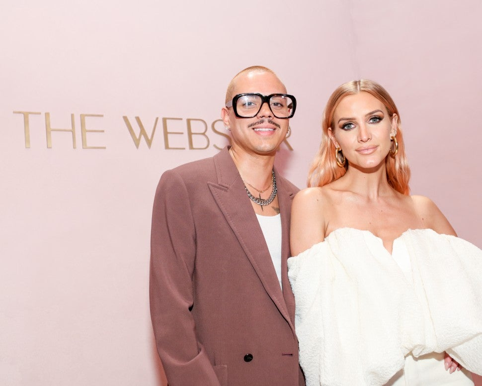 Ashlee Simpson and Evan Ross at the webster