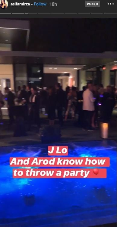 JLO Arod Super Bowl Pre Party