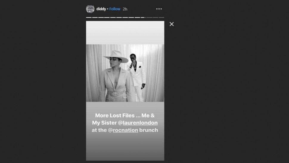 Diddy Lauren London Instagram